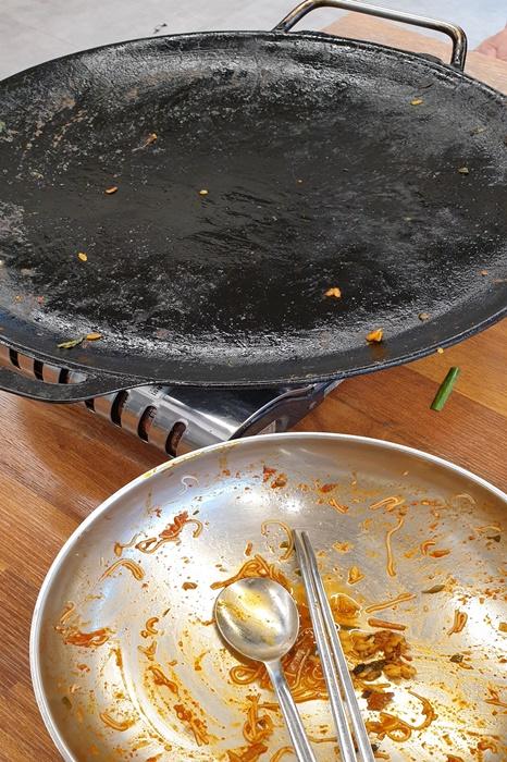 동해옥 수제순대 순대구이 냉면 다 먹은 사진