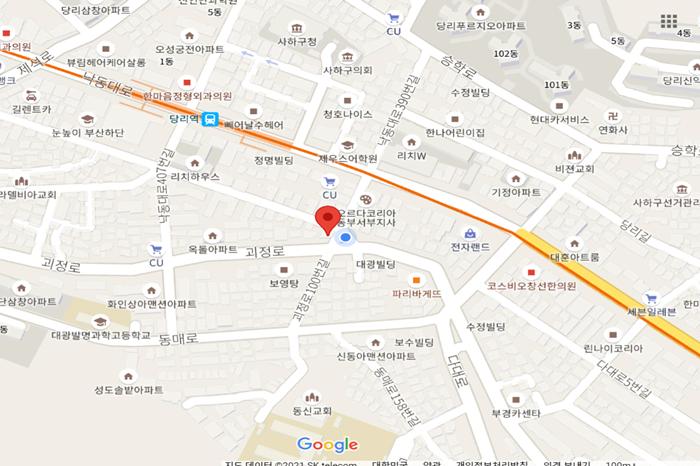 부산맛집 동해옥 수제순대 위치 지도
