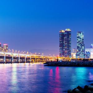 부산 광안리해수욕장 광안대교 야경